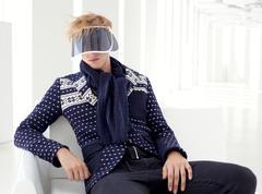 Modern male model with futuristic sci-fi visor Kuvituskuvat