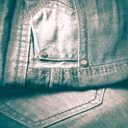 jean pants retro vintage style - stock photo