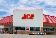 Ace Hardware Store Exterior - stock photo