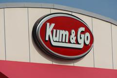 Kum & Go Exterior and Sign - stock photo