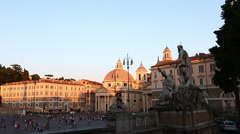 Time Lapse Piazza del Popolo Stock Footage