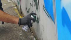 street artist festival in Bristol: Upfest 2015, graffiti, murals, street art - stock footage