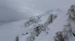 Beautiful mountain peaks of Caucasus Mountains Stock Footage