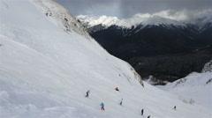 Panorama peaks of Caucasus Mountains in Rosa Khutor Alpine Resort - stock footage