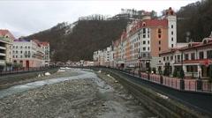 Rosa Khutor Alpine Resort Stock Footage