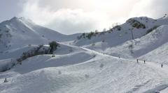 Ski slopes in Rosa Khutor Alpine Resort - stock footage