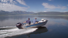 Motor Boat on Lake Stock Footage