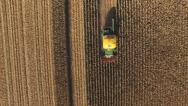 Stock Video Footage of Overhead view of maize harvesting