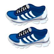 Footwear for sport - stock illustration