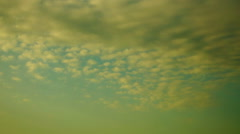 Clouds. Sunrise. Silhouettes of trees. Pan. - stock footage