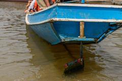 Ship rudder for navigation. - stock photo