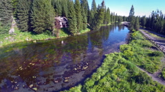 Aerial of Forrest River - stock footage