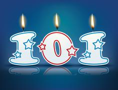Birthday candle number 101 - stock illustration