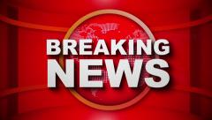 Breaking News Broadcast Graphics - stock footage