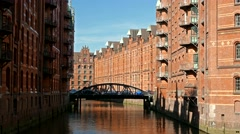 4K Germany Hamburg Unesco historical Speicherstadt City of Warehouses Stock Footage