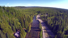 Aerial Over Forrest River Stock Footage