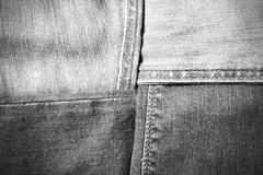 jean texture black and white tone color style - stock photo