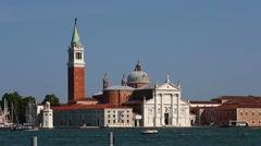 San Giorgio Maggiore Church (Chiesa di San Giorgio Maggiore) Stock Footage