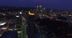 Atlantic Station Aerial 11 Stock Footage