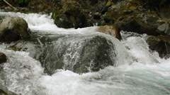 Close Up of Rocky White Water Rapids in Slow Motion - stock footage