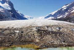 Athabasca glacier - stock photo