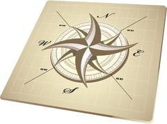 Wind rose compass retro design vector Stock Illustration