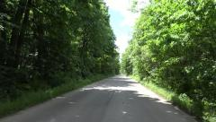 4K Car Driving Forest Road Wood Window View Pov Tracking Auto Nature Landscape Stock Footage