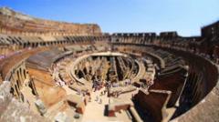 Roman Colesseum of Rome Stock Footage