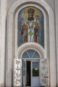 Church Dmitry Rostovsky - Orthodox church in Rostov -on-Don , Russia . - stock photo