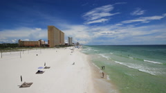 People Walking On The Beach - Panama City Beach, Florida Stock Footage
