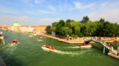 Stock Video Footage of Tracking Shot Traffic on the Grand Canal (Canale Grande)