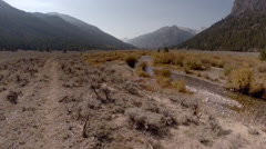 Autumn Mountain River Idaho Aerial Stock Footage