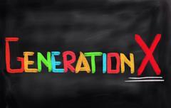 Generation X Concept - stock illustration