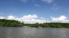 Riverbank landscape - stock footage