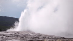 Old Faithful Geyser Yellowstone Stock Footage
