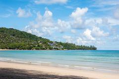 Beach and blue sea, Phuket sceni Stock Photos