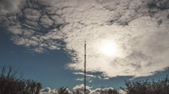 the communication tower. - stock footage
