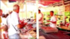 Selling hamburgers. Stock Footage