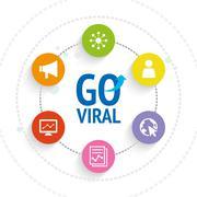 Social Network Viral Marketing - icons vector - stock illustration