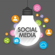 Social Network Viral Marketing - icons vector Stock Illustration