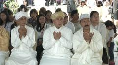 Bangkok Bombing Religious Ceremony  - stock footage