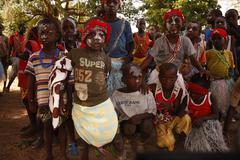 initiatory rite diola in Sénégal - stock photo