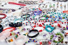 Stock Photo of jewelry in a bargain market spread