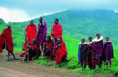 Group of Massai in Tanzanie - stock photo