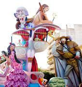 Fallas fest figures on Valencia province Stock Photos