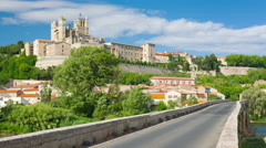 Beziers in a summer day Stock Footage