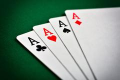 Four aces - stock photo