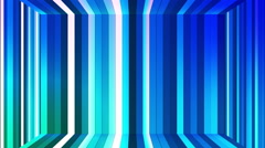 Broadcast Twinkling Vertical Hi-Tech Bars Room, Blue, Abstract, Loopable, HD Stock Footage