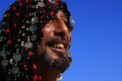 Folklore for the traditional feast of the Gypsies in the Camargue - stock photo