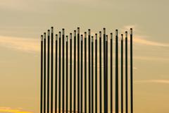 Prairie Wind Landmark in Saskatoon, Canada Stock Photos